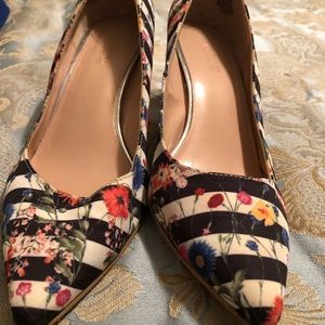 Striped and Floral shoes